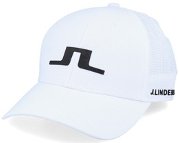 Caden Tech Mesh White Adjustable - J.Lindeberg