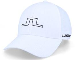 Caden Golf Cap White Adjustable - J.Lindeberg