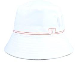 Hans Golf Hat White Bucket - J.Lindeberg