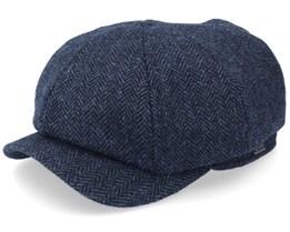 Newsboy Classic Cap Navy Flat Cap - Wigéns