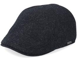 Pub Cap Dark Grey Melange Flat Cap - Wigéns