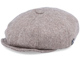 Kids Theodor Jr. Herringbone Brown Flat Cap - CTH Ericson