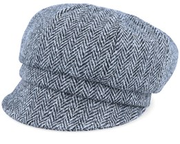 Regina Sr. Harris Tweed Black/Grey Flat Cap - CTH Ericson