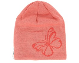 Kids Knitted Butterfly Red Beanie - Geggamoja