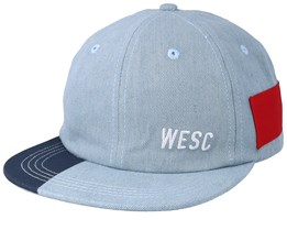 Hans Blocks Cerulean Blue/Red Strapback - WeSC