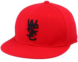 Overlay Cap True Red Fitted - Wesc