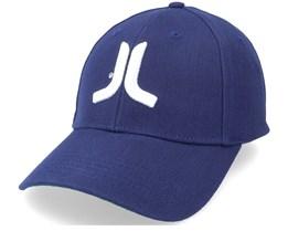 3D Embroidered Logo Stretch Fit Hat Blue Flexfit - Wesc