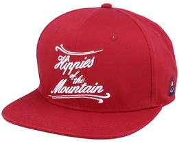 Mountain Burgundy Red Snapback - Appertiff
