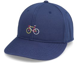Organic Snapback Color Bike Navy Adjustable - Dedicated