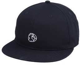 Unconstructed Cap Globe Black Snapback - Dedicated