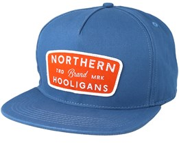 Badge Washed Blue Snapback - Northern Hooligans