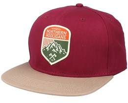 Outdoor Div. Maroon / Dark Khaki Snapback - Northern Hooligans