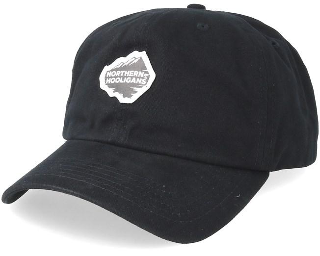 44f55a1fd9e Mountain Unstructured Black Adjustable - Northern Hooligans caps -  Hatstoreworld.com