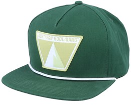 The Single Peak Cap Forest Green Snapback - Northern Hooligans