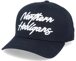 The Script Cap Black Adjustable - Northern Hooligans