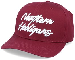 The Script Cap Maroon Adjustable - Northern Hooligans