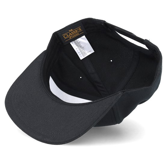 3ae99b14258 Hexagon Logo Black Black Snapback - Bearded Man caps - Hatstoreaustralia.com