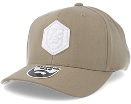 Hexagon Logo 110 Beige/White Adjustable - Bearded Man