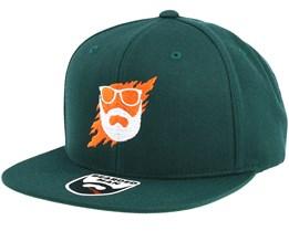 Scratch Dark Green Snapback - Bearded Man