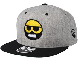 Bearded Smiley Grey/Black Snapback - Bearded Man