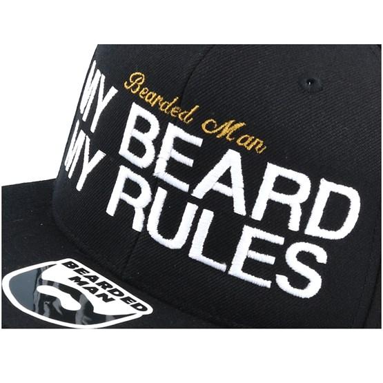 c117c2a3a My Beard My Rules Black Snapback - Bearded Man