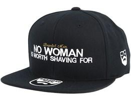 No Woman Black Snapback - Bearded Man