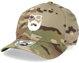 Logo Camo Flexfit - Bearded Man