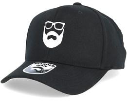 Logo 110 Black Adjustable - Bearded Man