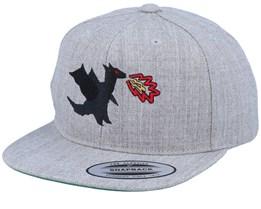 Kids Dragonfire Grey Snapback - Kiddo Cap