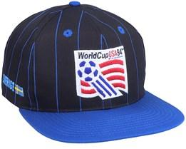 1994 World Cup Vintage Black/Blue Snapback - Twins Enterprise