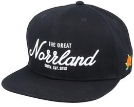 Great Norrland Black Snapback - Sqrtn