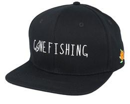 Gone Fishing Black Snapback - Sqrtn