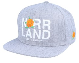 Represent Heather Grey/White Snapback - SQRTN