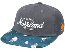 Kids Great Norrland Mumin Dark Grey Snapback - SQRTN