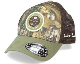 Lucky Hunter Realtree Camo/Brown Trucker - Black Clover