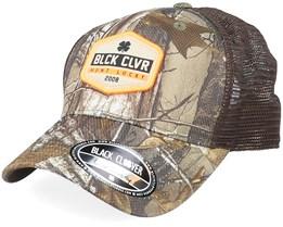Safety Orange Realtree Camo/Brown Trucker - Black Clover