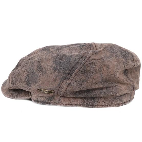 McCook Pigskin Flat Cap - Stetson caps  40a3a5e8942d