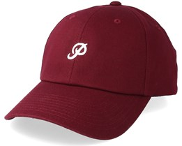 Mini Classic P Dad Hat Burgundy Adjustable - Primitive Apparel