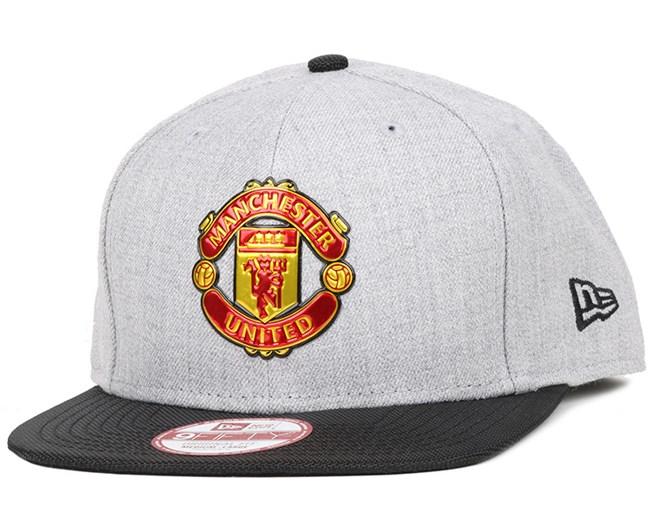 Manchester United Ballistic Grey Black 9Fifty Snapback - New Era cap ... ef20e4018b
