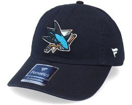 San Jose Sharks Primary Logo Core Black Dad Cap - Fanatics