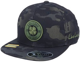 Anniversary Patch Green Camo 110 Snapback - Black Clover