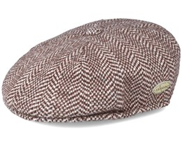 Herringbone 504 Brown Flat Cap - Kangol