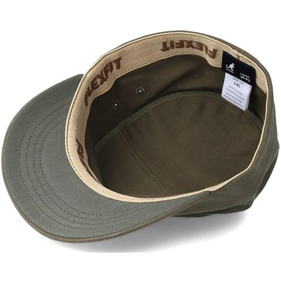Cotton Twill army Cap Army Green Flexfit - Kangol cap - Hatstore.co.in 51b967d5ba0