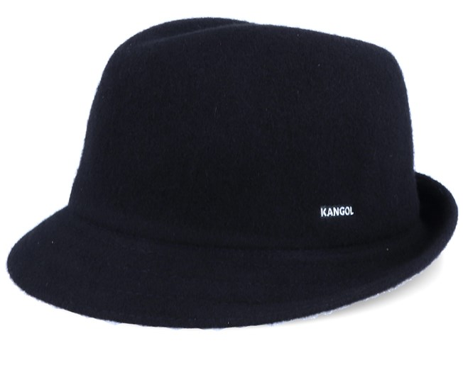 Wool Arnold Black Trilby - Kangol hats | Hatstore co uk