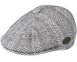 Herringbone 507 Grey Flat Cap - Kangol