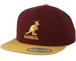 Championship Links Maroon/Gold Snapback - Kangol