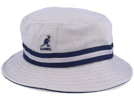 Stripe Lahinch Beige/Navy Bucket - Kangol