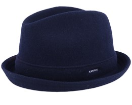 Wool Player Dark Blue Trilby - Kangol