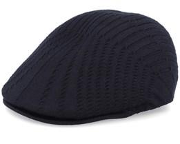 Beam Rib 507 Black Flat Cap - Kangol