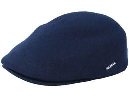 Bamboo 507 Dark Blue Flat Cap - Kangol